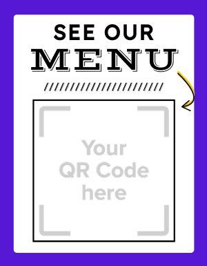 Menu QR Code Flyer