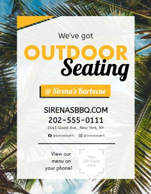 Beach Seating Flyer
