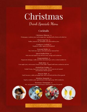 Christmas Maroon Menu
