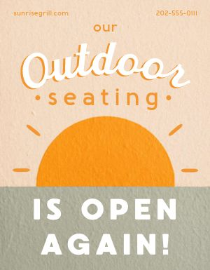 Outdoor Seating Flyer
