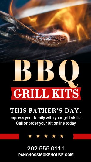 BBQ Grill Facebook Story