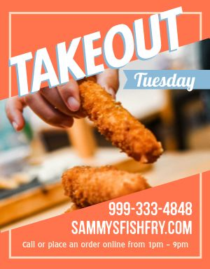 Tuesdays are for Takeout Flyer