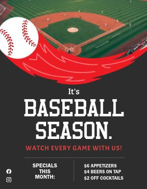 Baseball Season Signage
