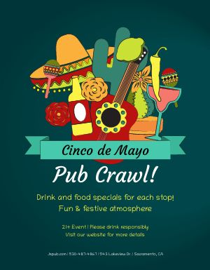 Cinco De Mayo Pub Flyer