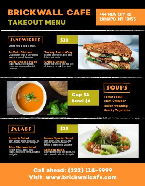 Sandwiches Lite Takeout Menu