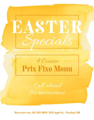 Easter Menu Flyer
