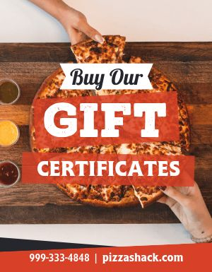 Pizza Gift Certificate Flyer