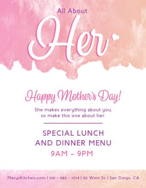 All About Her Mothers Day Flyer