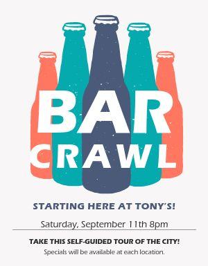 Bar Crawl Announcement