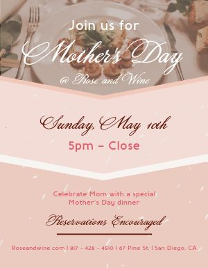 Mothers Day Dinner Flyer