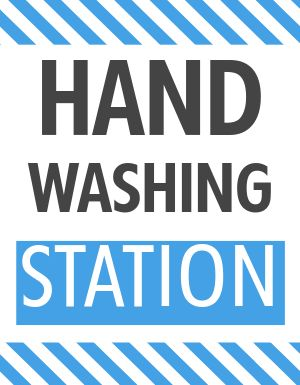 Handwashing Sign