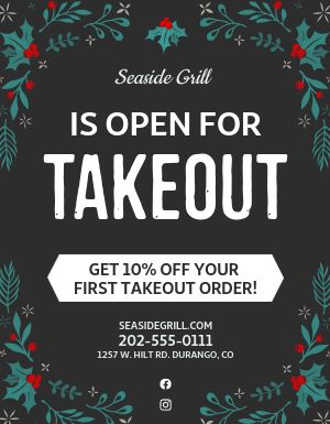 Holiday Takeout Signage
