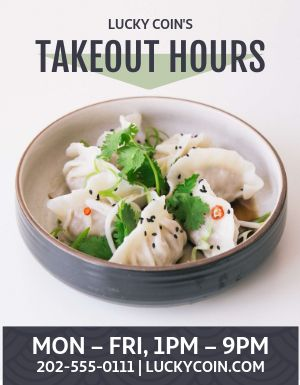 Dumplings Takeout Flyer