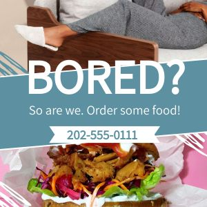 Bored Food Instagram Post