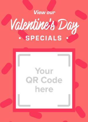 Valentines QR Code Tabletop Insert