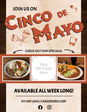 Cinco De Mayo Specials Flyer