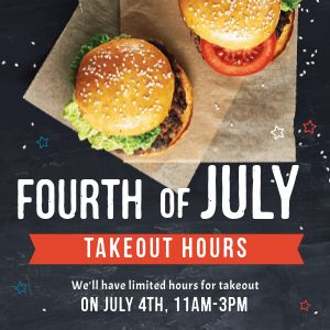 Fourth of July Burgers Instagram Update