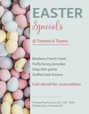 Easter Specials Flyer