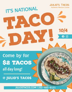 Taco Day Flyer