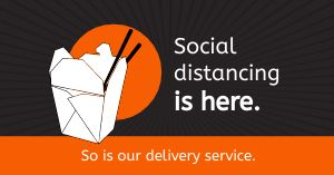 Delivery Distancing Facebook Post
