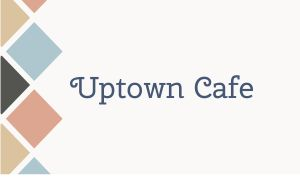 Uptown Cafe Business Card