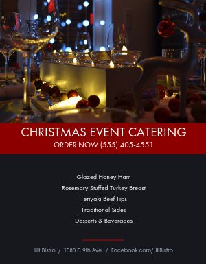 Christmas Event Catering Flyer