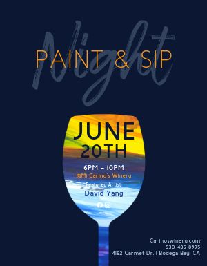 Paint and Sip Night Flyer