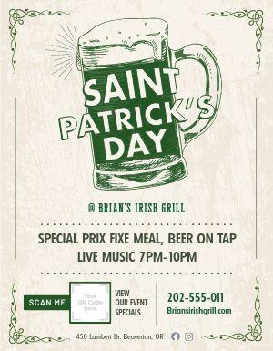 St Patricks Specials Sign