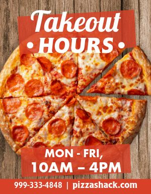 Pizzeria Takeout Flyer