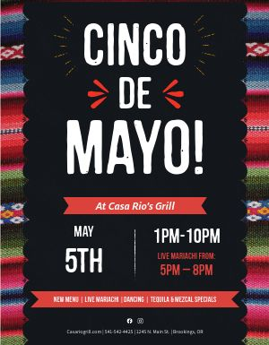 Cinco De Mayo Gathering Flyer