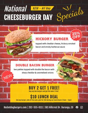 Cheeseburger Day Sign