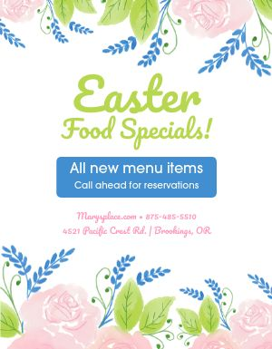 Easter Restaurant Flyer