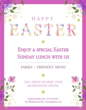 Easter Lunch Flyer