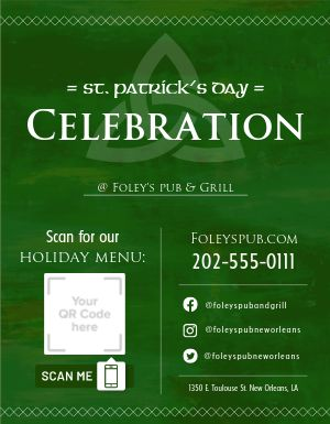 St Patricks Celebration Signage