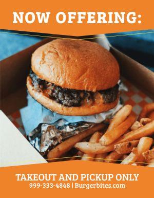 Burger Pickup Flyer