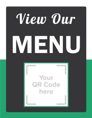 View Menu QR Code Signage