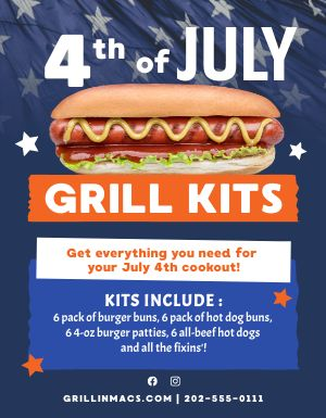 Fourth Grill Kits Sign