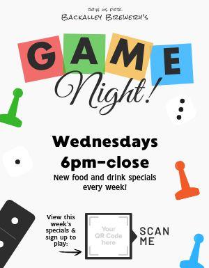 Game Night Bar Flyer