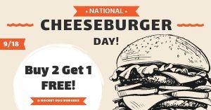 National Cheeseburger Day Facebook Update