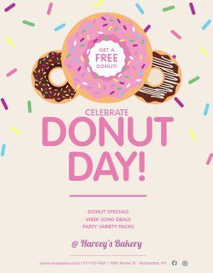 Free Donut Flyer