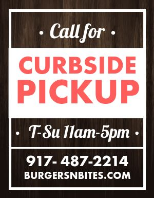Curbside Phone Number Flyer