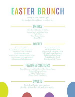 Rainbow Easter Menu