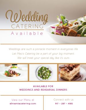 Wedding Catering Available Flyer
