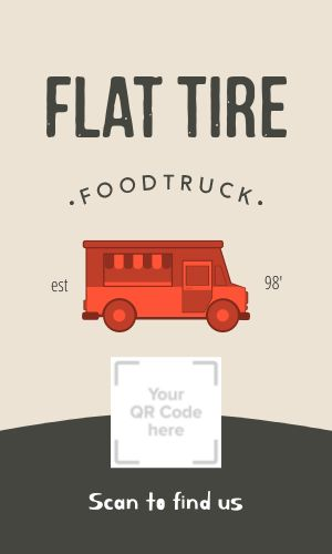 Food Truck QR Code Business Card