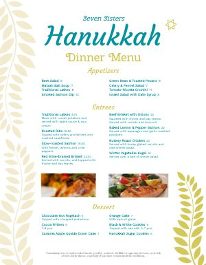 Simple Hanukkah Menu