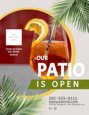 Open Patio Flyer
