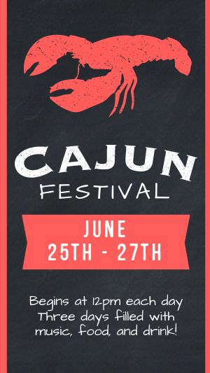 Cajun Festival FB Story