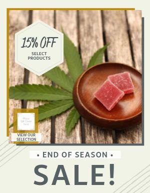 Cannabis Sale Flyer