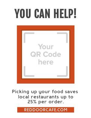 Support Restaurants Sign