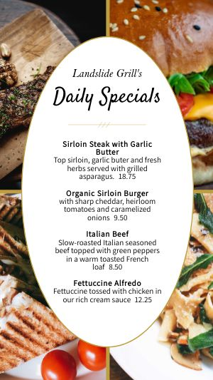 Grill Specials Instagram Story